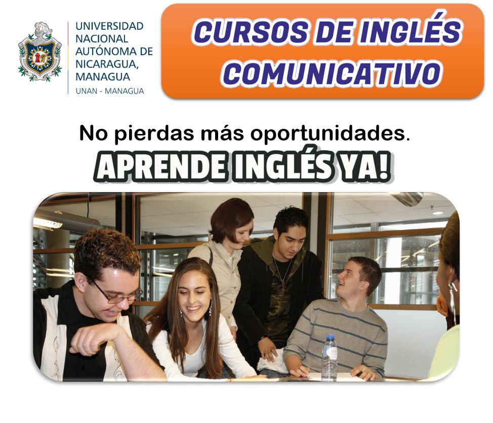 Cursos Libres De Ingles Comunicativo Departamento De Ingles Unan Managua